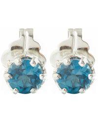 Anna Sheffield - Blue Topaz Petit Stud Earrings - Lyst