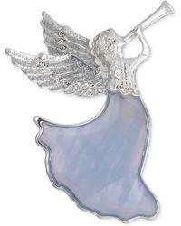Jones New York - Silvertone Herald Angel Boxed Pin - Lyst