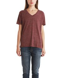 IRO Collin V Neck Tee - Lyst