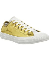 Converse All Star Metallic Low-Top Trainers - For Women - Lyst