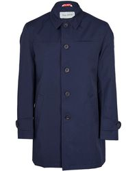 Oliver Spencer Navy Trench Coat - Lyst