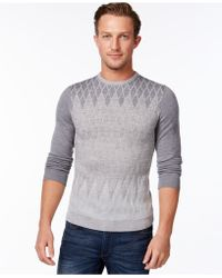 Calvin Klein | Diamond Ombré Argyle Sweater | Lyst