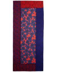 Diane von Furstenberg Poppy Leopard New Boomerang Silk Scarf - Lyst