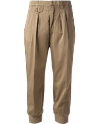 Dondup Cropped Trouser - Lyst