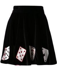 Olympia Le-Tan Velvet Cards Skirt - Lyst