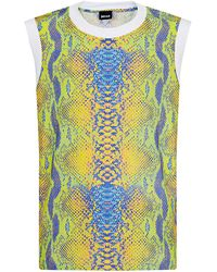 Just Cavalli Snake Print Perforated Vest - Lyst