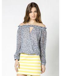 Patrizia Pepe Long Sleeve Silk Tunic Top - Lyst
