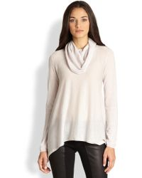Alice + Olivia Draped Cowlneck Sweater - Lyst