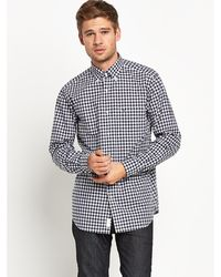 Lacoste Mens Small Check Shirt - Lyst