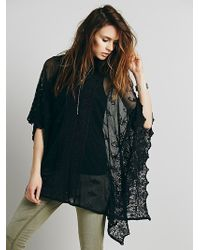 Free People Suzie Sheer Lace Poncho - Lyst