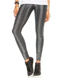 Joe's Jeans Skinny Snakeskin-Print Leggings - Lyst
