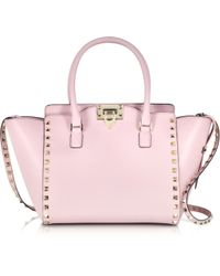 Valentino Rockstud Water Rose Small Double Handle Bag - Lyst