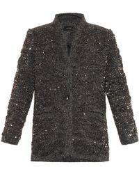 Isabel Marant Embellished Wool Jacket - Lyst
