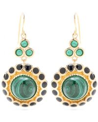 Isharya - Maharani 18kt Goldplated Malachite Earrings - Lyst