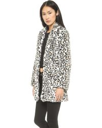 Pam & Gela Faux Fur Coat  Leopard - Lyst