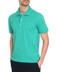 Lacoste Lime Green Slim-Fit Ss Polo Shirt - Lyst
