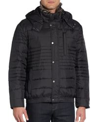 Marc New York By Andrew Marc Fur-Trimmed Quilted Down Bomber Jacket - Lyst