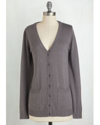ModCloth | Have A Good Knit Cardigan In Grey | Lyst