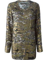 Isabel Marant Multicolor Sequin Top - Lyst