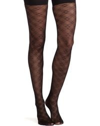 Spanx Floral Check Tights - Lyst
