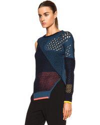 Prabal Gurung Cut Out Shoulder Viscose-Blend Knit Sweater - Lyst