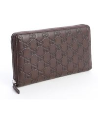 Gucci Chocolate Brown Ssima Leather Wallet - Lyst