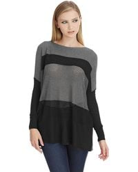 DKNY Striped Drop Shoulder Pullover - Lyst