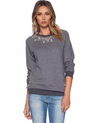 Hemant & Nandita - Crystal Neckline Sweatshirt - Lyst