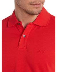 Hugo Boss Short Sleeve Firenze Logo Polo Shirt - Lyst