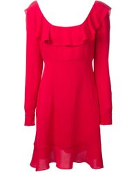 Valentino Ruffled A-Line Dress - Lyst
