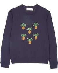 Eudon Choi Navy Ronnie Pineapple Sweatshirt - Lyst
