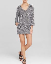 Macbeth Collection - Hooded Print Swim Cover Up Tunic - Lyst