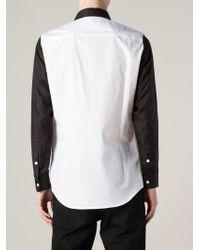 Christian Dada - Contrasting Collar And Sleeve Shirt - Lyst