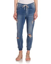 Pam & Gela - Denim-print Sweatpants - Lyst