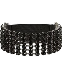 River Island Black Diamante Stretch Arm Cuff - Lyst