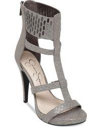 Jessica Simpson Celsus Caged Dress Sandals - Lyst