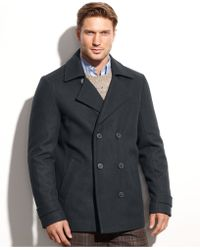 Calvin Klein | Wool-blend Double-breasted Pea Coat | Lyst
