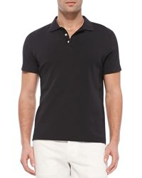 Theory Boydcensus Shortsleeve Polo Black - Lyst