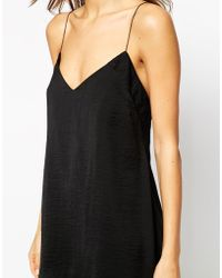 Asos Deep Strap Back Night Slip - Lyst