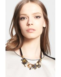 Marni Crystal Station Leather Necklace - Lyst
