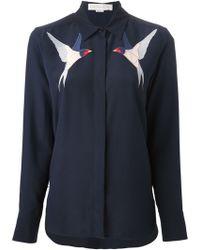 Stella McCartney Swallow Embroidery Shirt - Lyst