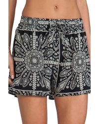 Tolani Black Gia Shorts - Lyst