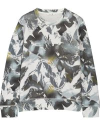 Theory Incliner Printed Cotton Sweatshirt - Lyst
