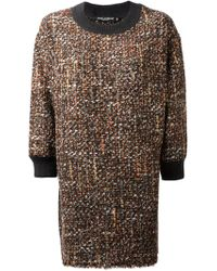 Dolce & Gabbana Boucle Knit Shift Dress - Lyst