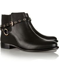 Diane Von Furstenberg Rikki Leather Ankle Boots - Lyst