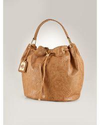 Ralph Lauren Paulden Leather Drawstring Bag brown - Lyst
