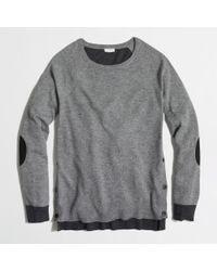 J.Crew Factory Side-button Elbow-patch Sweater in Colorblock - Lyst