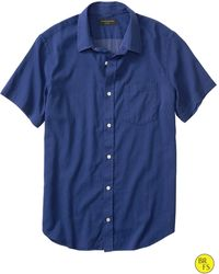 Banana Republic Factory Soft-Wash Blue Dot Shirt - Lyst