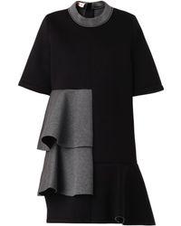 Marni Bi-colour Ruffle-panel Bonded Dress - Lyst