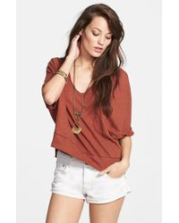 Free People 'Crescent Moon' Jersey Pullover Top - Lyst